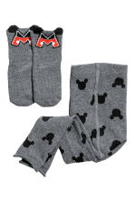 Leggings and socks - Dark grey - Kids | H&M 1