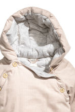 Padded corduroy all-in-one - Light beige - Kids | H&M CN 3