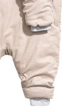 Padded corduroy all-in-one - Light beige - Kids | H&M CN 2