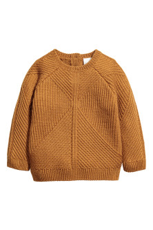 Textured-knit wool jumper