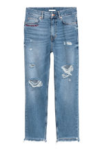 Straight Regular Jeans - Kot mavisi/Girls bite - KADIN | H&M TR 2