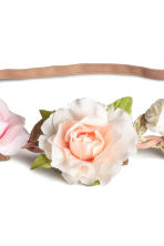 Hairband with flowers - Light pink - Ladies | H&M CN 2