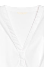 Tie-detail cotton blouse - White - Ladies | H&M 4