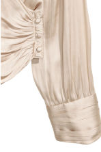 Wrapover satin blouse - Champagne - Ladies | H&M 3