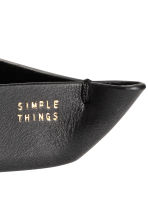 Small leather tray - Black - Home All | H&M IE 4