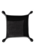 Small leather tray - Black - Home All | H&M IE 3