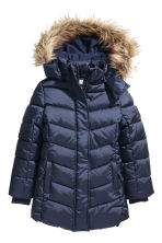 Padded jacket with a hood - Dark blue -  | H&M CN 2
