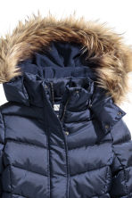 Padded jacket with a hood - Dark blue -  | H&M CN 4