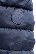 Padded jacket with a hood - Dark blue -  | H&M CN 3