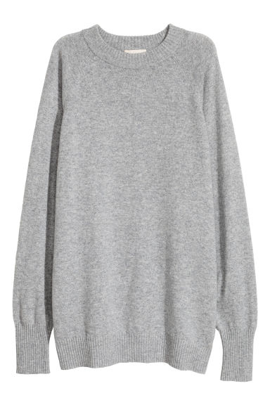 Cashmere jumper - Grey marl - Ladies | H&M