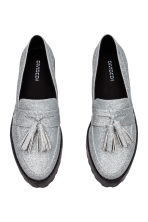 Platform loafers - Silver-coloured/Glittery - Ladies | H&M CA 3