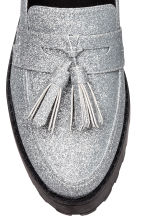 Platform loafers - Silver-coloured/Glittery - Ladies | H&M CA 4