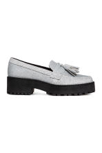 Platform loafers - Silver-coloured/Glittery - Ladies | H&M CA 2