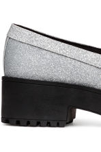 Platform loafers - Silver-coloured/Glittery - Ladies | H&M CA 5