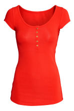 MAMA Jersey top - Bright red - Ladies | H&M 2