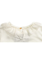 Short-sleeved jersey top - Natural white/Frill - Kids | H&M CN 3