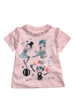 Short-sleeved jersey top - Vintage pink/Circus - Kids | H&M CN 2