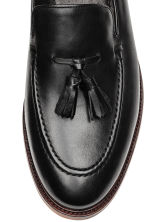 Tasselled leather loafers - Black - Men | H&M CN 3