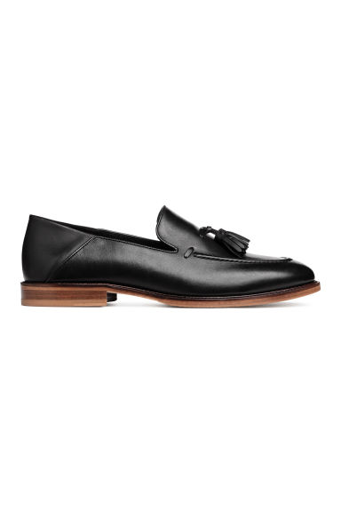 Tasselled leather loafers - Black - Men | H&M CN 1