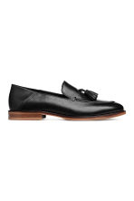 Leather Loafers with Tassels - Black - Men | H&M CA 1