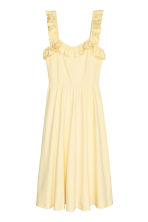 Frilled dress - Light yellow -  | H&M CN 2