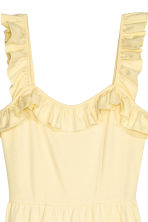 Frilled dress - Light yellow -  | H&M CN 3