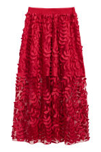 Tulle skirt with embroidery - Red -  | H&M 2