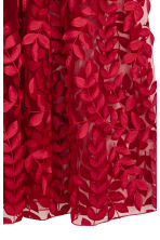 Tulle skirt with embroidery - Red -  | H&M 3