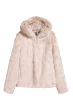 Faux fur jacket - Light beige - Ladies | H&M GB 2