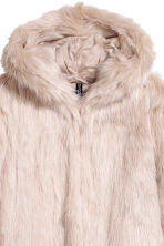 Faux fur jacket - Light beige - Ladies | H&M GB 3