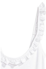 Frill-trimmed top - White -  | H&M CN 3