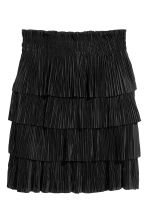 Pleated tiered skirt - Black - Ladies | H&M 2