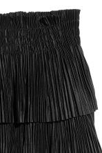 Pleated tiered skirt - Black - Ladies | H&M 3