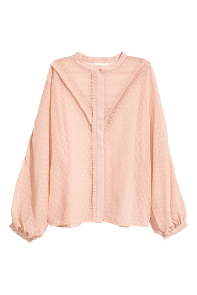 Chiffon blouse - Light beige - Ladies | H&M CN