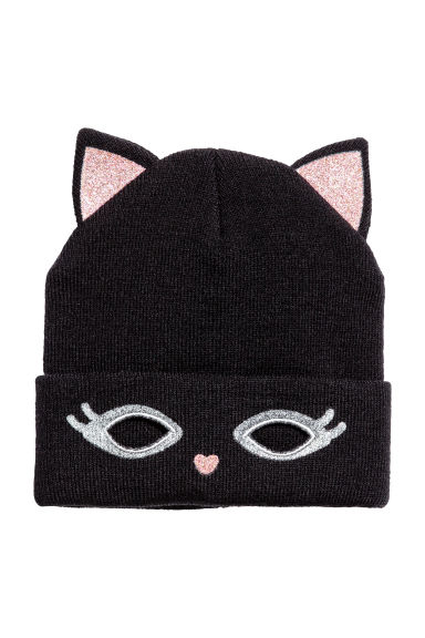 Fine-knit hat - Black -  | H&M 1