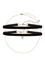 3-pack chokers - Gold-coloured/Black -  | H&M CN 1