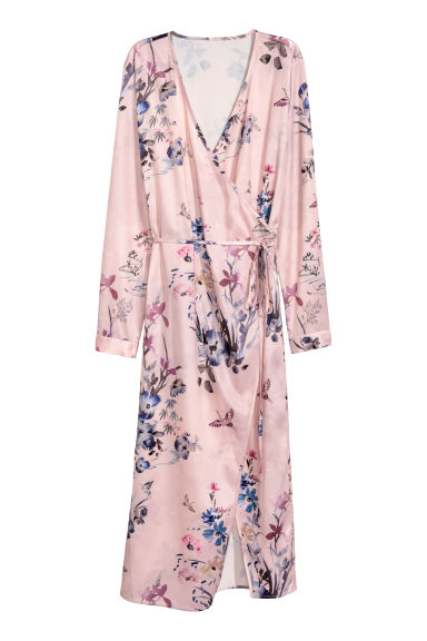 Wrap dress - Powder pink - Ladies | H&M CN