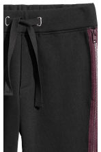Sweatpants with zips - Black - Men | H&M CN 3