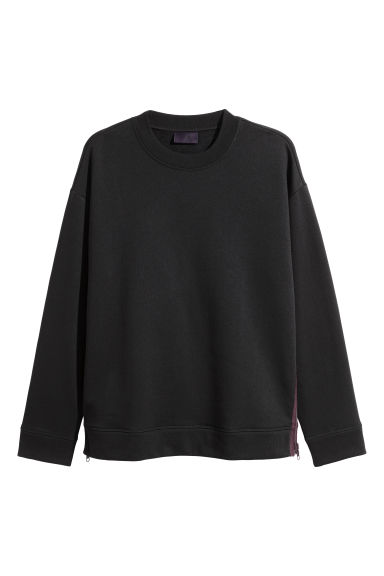 Sweater met ritsen - Zwart - HEREN | H&M BE