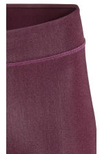 Sports tights - Burgundy - Ladies | H&M 3