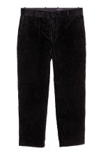 Cotton corduroy trousers - Black - Men | H&M 2