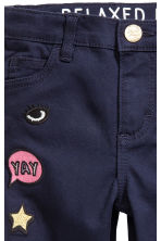 Twill trousers with appliqués - Dark blue - Kids | H&M 5