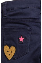 Twill trousers with appliqués - Dark blue - Kids | H&M 4