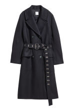 Wool-blend coat - Dark blue - Ladies | H&M 2