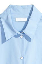 Pima cotton shirt - Light blue - Ladies | H&M 3