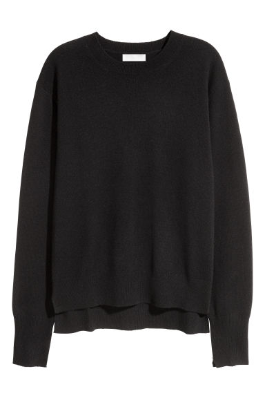 Cashmere jumper - Black - Ladies | H&M GB