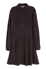 Abito in tessuto increspato - Nero/pois - DONNA | H&M IT 2