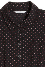 Abito in tessuto increspato - Nero/pois - DONNA | H&M IT 3