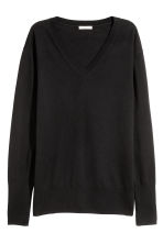 Merino wool jumper - Black - Ladies | H&M CN 2