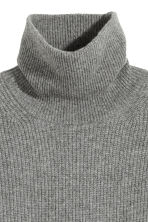 Cashmere-mix polo-neck jumper - null - Ladies | H&M CN 3
